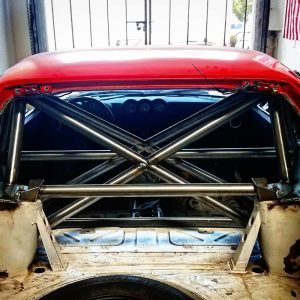 Datsun 240z S30 rear strut bar raw finish